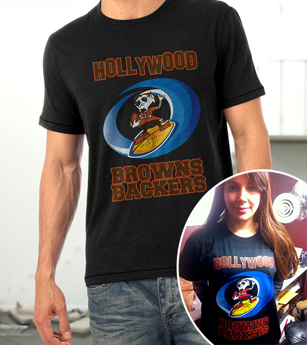 Hollywood Browns Backers tshirts