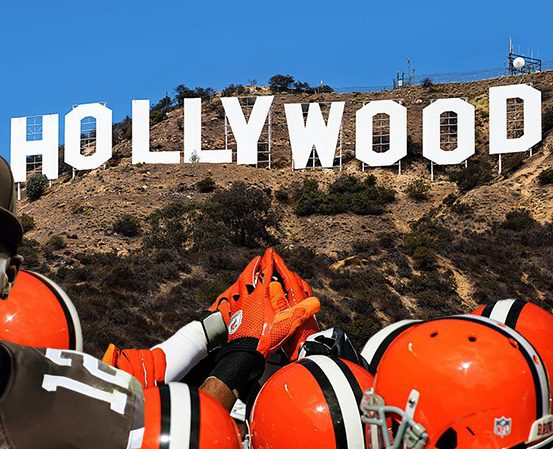 Josh Gordon Cleveland Browns Backers Los Angeles Hollywood Sign