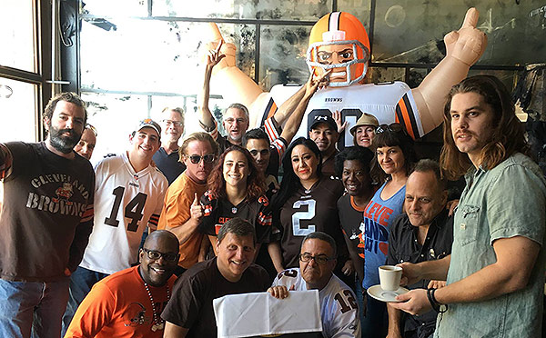 Los Angeles Cleveland Browns Backers St. Felix Hollywood
